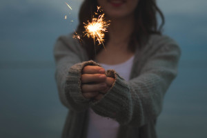 Sparkler in Hand by Morgan Sessions